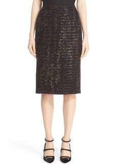 Lafayette 148 New York Guilded Tweed Pencil Skirt