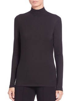 Lafayette 148 New York Mock Turtleneck Jersey Top