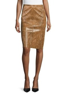 Lafayette 148 New York Modern Slim Leather Skirt