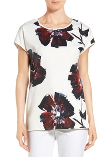 Lafayette 148 New York 'Nadette' Floral Blouse (Regular & Petite)