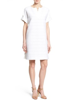 Lafayette 148 New York 'Nazeen' Shadow Stripe Knit Shift Dress