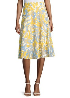 Lafayette 148 New York Nevada Printed Linen Skirt