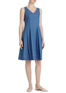 Lafayette 148 New York 'Noreen' V-Neck A-Line Dress