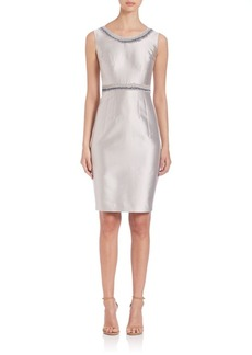 Lafayette 148 New York Nouveau Embellished Shantung Dress