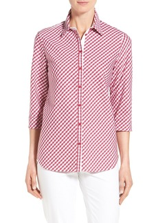 Lafayette 148 New York 'Paget' Check Blouse