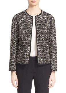 Lafayette 148 New York 'Pascale' Collarless Open Front Topper