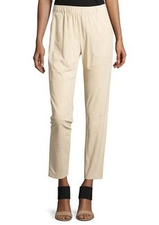 Lafayette 148 New York Piped Suede Track Pants