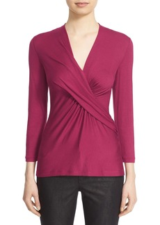 Lafayette 148 New York Pleat Wrap Front Top (Regular & Petite)