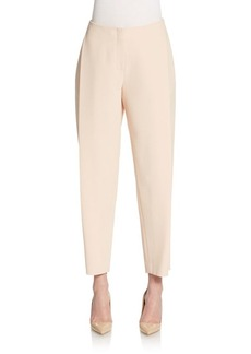 Lafayette 148 New York Pleated Slim-Leg Pants