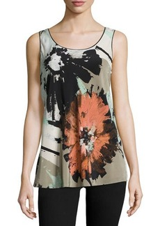 Lafayette 148 New York Portman Floral-Print Sleeveless Top  Portman Floral-Print Sleeveless Top