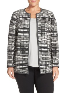 Lafayette 148 New York 'Pria' Geometric Jacquard Jacket (Plus Size)