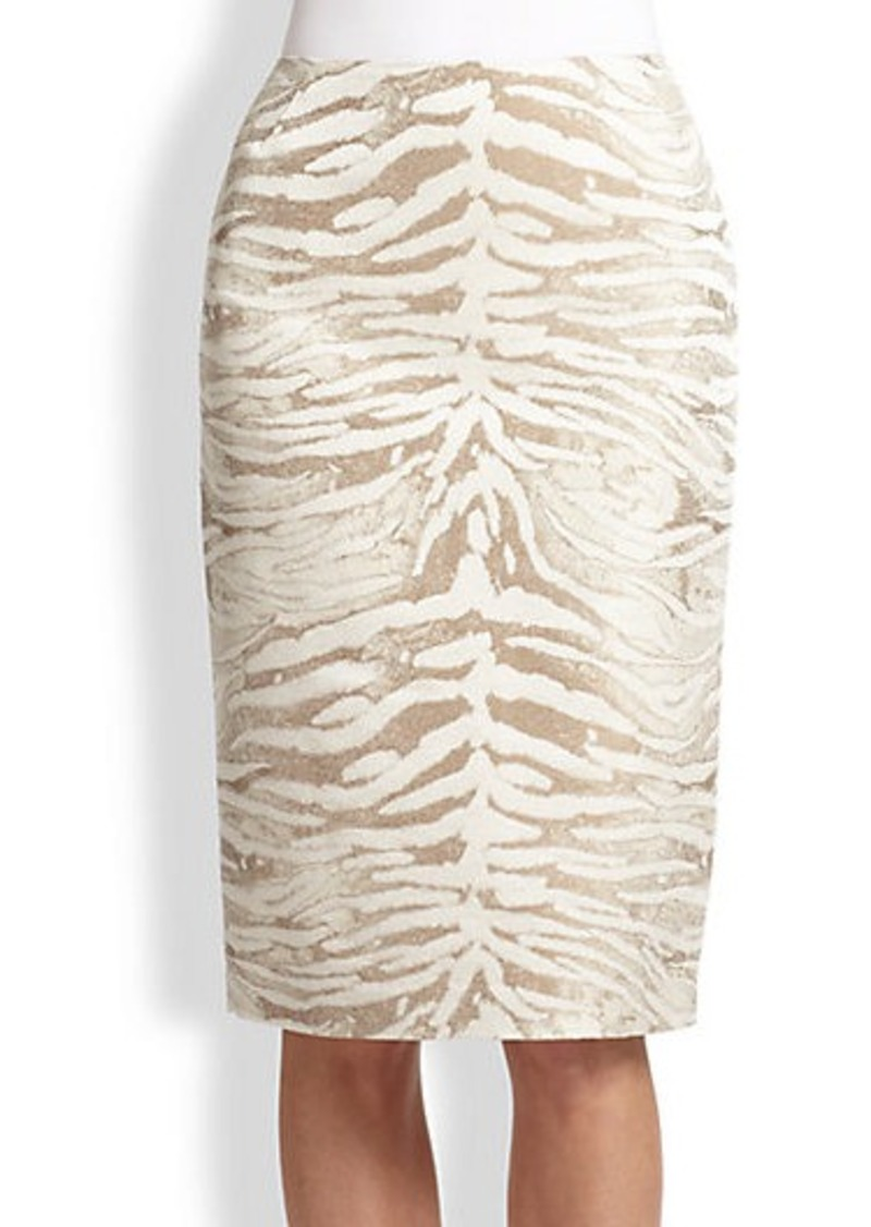 Lafayette 148 New York Printed Modern Slim Skirt