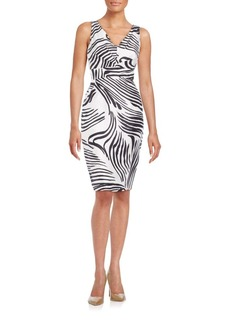 Lafayette 148 New York Printed Silk Sheath Dress