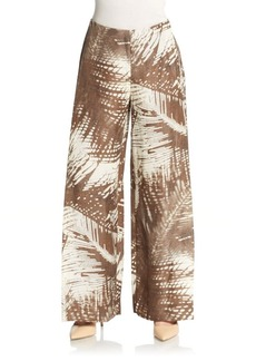 Lafayette 148 New York Printed Wide-Leg Trousers