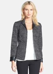 Lafayette 148 New York 'Raleigh' Faux Leather Trim Jacket (Regular & Petite)