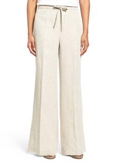 Lafayette 148 New York Relaxed Drawstring Waist Linen Pants