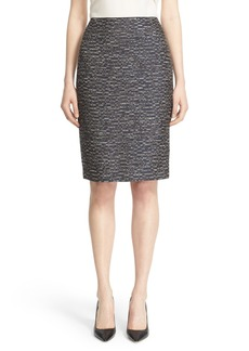 Lafayette 148 New York 'Revelin' Tweed Pencil Skirt (Regular & Petite)