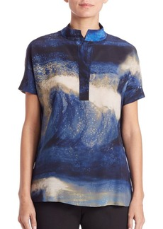 Lafayette 148 New York Reyn Printed Silk Blouse