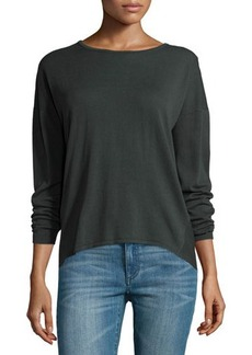 Lafayette 148 New York Ribbed-Back Dropped-Sleeve Sweater