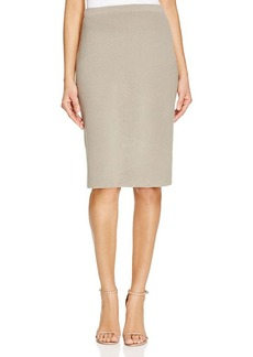 Lafayette 148 New York Ribbed Knit Pencil Skirt