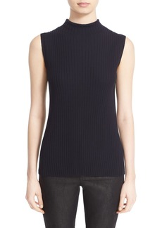Lafayette 148 New York Ribbed Mock Neck Shell