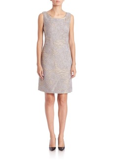 Lafayette 148 New York Rosalind Scroll-Embroidery Dress