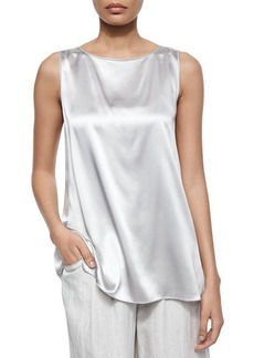 Lafayette 148 New York Rosie Sleeveless Charmeuse Blouse  Rosie Sleeveless Charmeuse Blouse