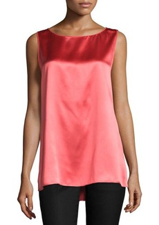 Lafayette 148 New York Rosie Sleeveless Round-Neck Blouse