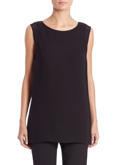 Lafayette 148 New York Sasha Silk Long Blouse