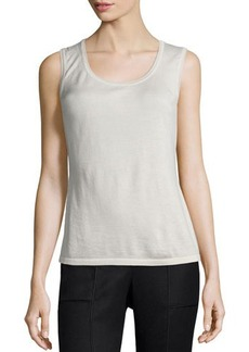 Lafayette 148 New York Scoop-Neck Cashmere-Blend Shell