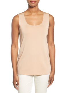 Lafayette 148 New York Scoop Neck Long Knit Tank