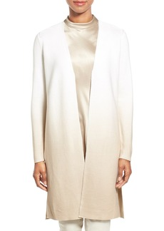 Lafayette 148 New York Sequin Ombré Silk & Cotton Knit Long Cardigan