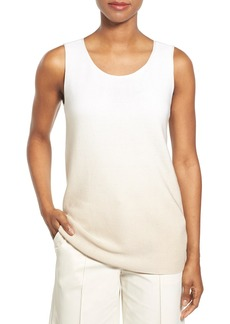 Lafayette 148 New York Sequin Ombré Silk & Cotton Knit Tank
