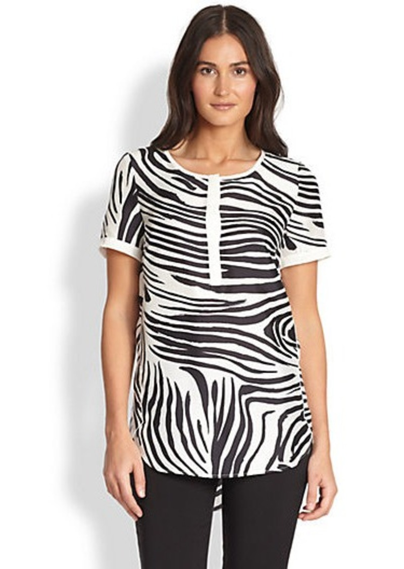 Lafayette 148 New York Shari Printed Top