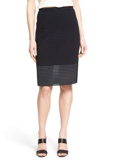 Lafayette 148 New York Shimmer Stripe Knit Skirt (Regular & Petite)