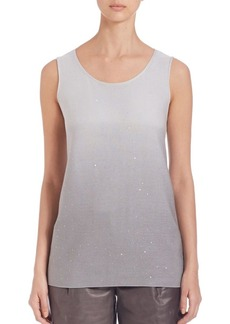 Lafayette 148 New York Silk & Cotton Sequin Ombré Tank Top