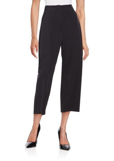 Lafayette 148 New York Silk-Blend Cropped Pants