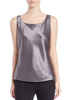 LAFAYETTE 148 NEW YORK Silk Charmeuse Bias Cut Tank