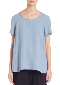 Lafayette 148 New York Silk Double Georgette Kate Blouse