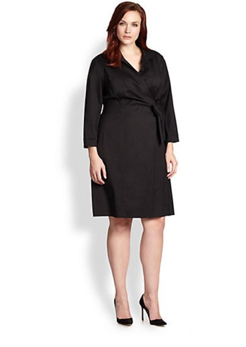 Lafayette 148 New York, Sizes 14-24 Reva Cotton Wrap Dress
