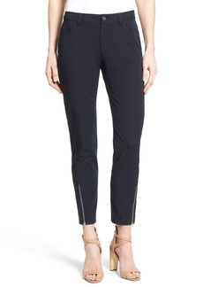 Lafayette 148 New York Slim Ankle Zip Stretch Twill Pants
