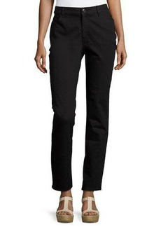 Lafayette 148 New York Slim-Fit Jacquard Denim Pants