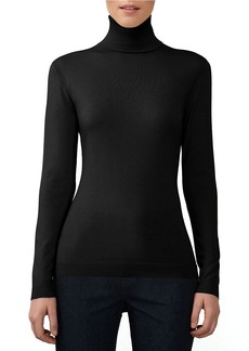 LAFAYETTE 148 NEW YORK Solid Turtleneck Top