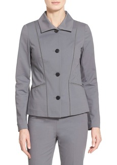 Lafayette 148 New York 'Sorrel' Grosgrain Trim Jacket