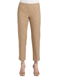 Lafayette 148 New York Stretch Cotton Ankle Pants