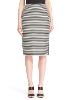 Lafayette 148 New York Stripe Jacquard Pencil Skirt