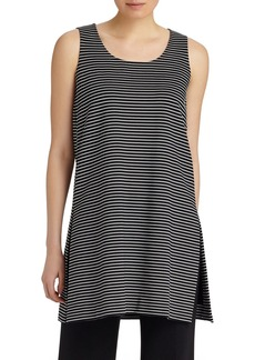Lafayette 148 New York Stripe Sleeveless Tunic