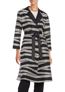 Lafayette 148 New York Striped Trench Coat
