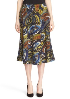 Lafayette 148 New York 'Suzie' Print Wool Blend Midi Skirt