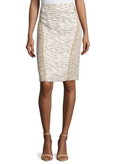 Lafayette 148 New York Sylvana Pencil Skirt W/Tonal Stitching